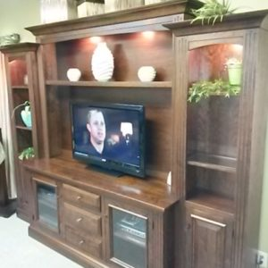 Rustic Cherry Entertainment Center