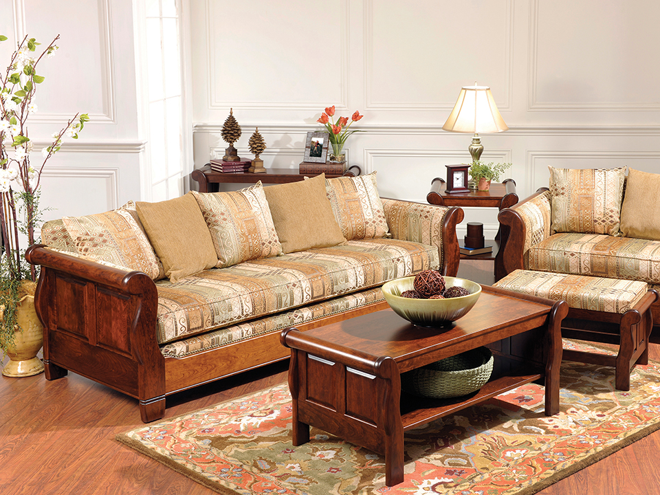 Schrocks Heritage Furniture Sleigh Group Living Room Set